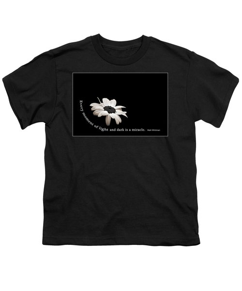 Light And Dark Inspirational Youth T-Shirt by Bill Pevlor