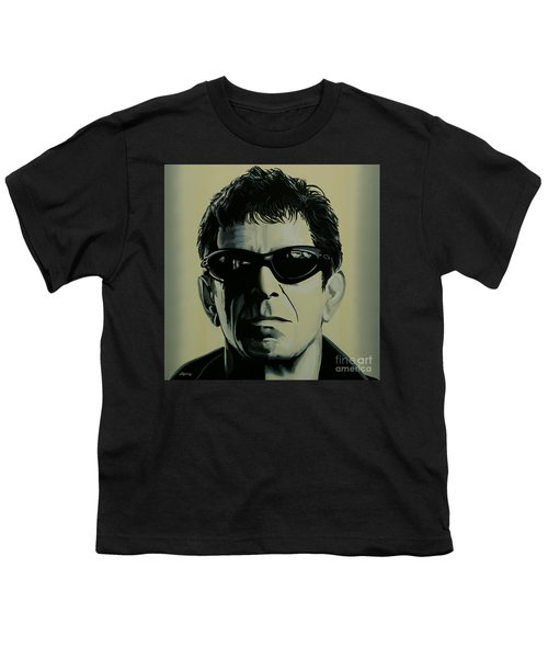 Lou Reed Painting Youth T-Shirt by Paul Meijering