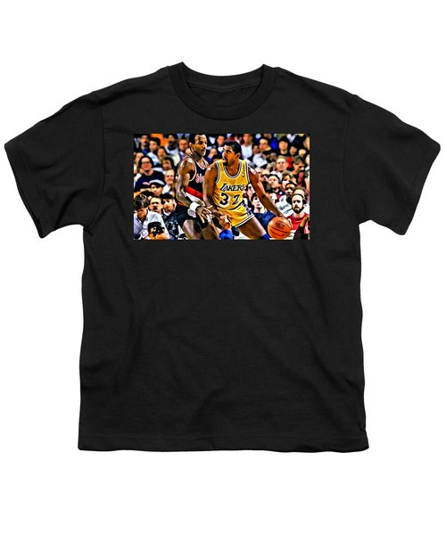 Magic Johnson Vs Clyde Drexler Youth T-Shirt