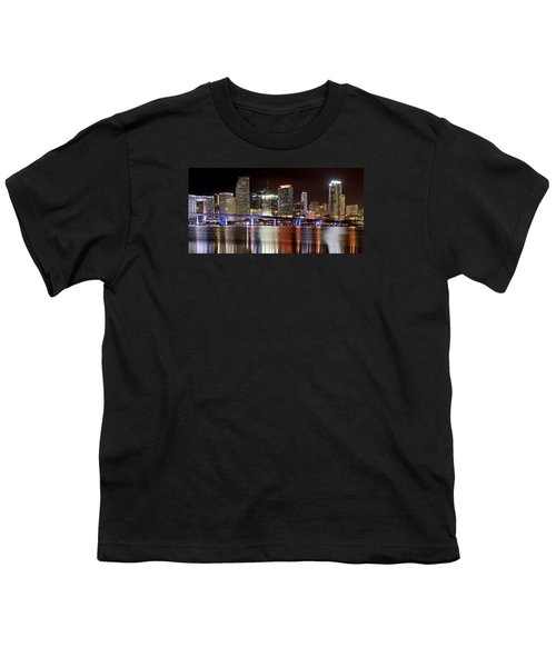 Miami Skyline Youth T-Shirt by Brendan Reals
