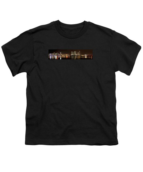 Miami - Skyline Panorama Youth T-Shirt by Brendan Reals