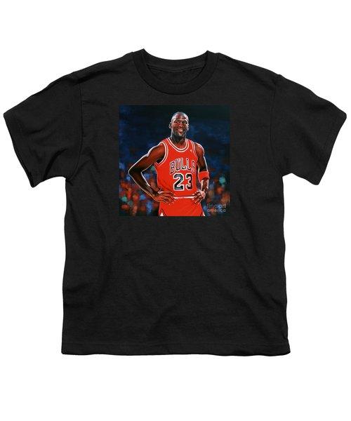 Michael Jordan Youth T-Shirt by Paul Meijering