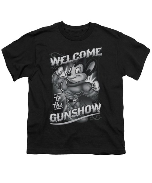 Mighty Mouse - Mighty Gunshow Youth T-Shirt