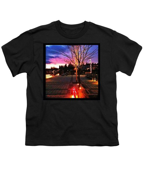 Millennium Park Plaza At Sunset Youth T-Shirt