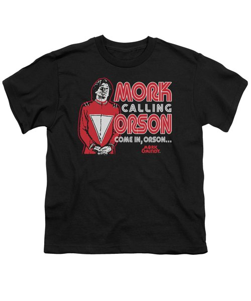 Mork And Mindy - Mork Calling Orson Youth T-Shirt