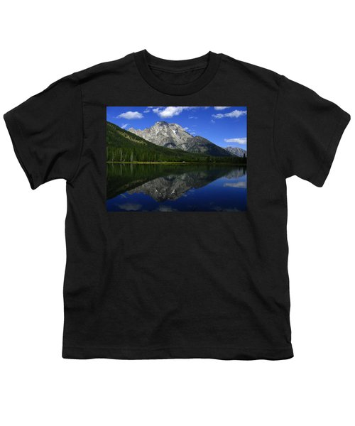 Mount Moran And String Lake Youth T-Shirt