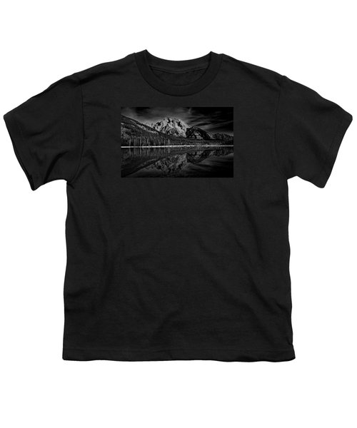 Mount Moran In Black And White Youth T-Shirt