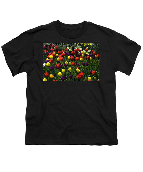 Multicolored Tulips At Tulip Festival. Youth T-Shirt