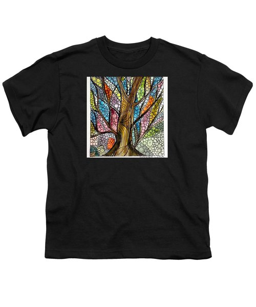 My Happy Watercolor Tree Youth T-Shirt