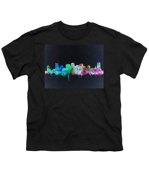 Nashville Skyline Watercolor 10 Youth T-Shirt