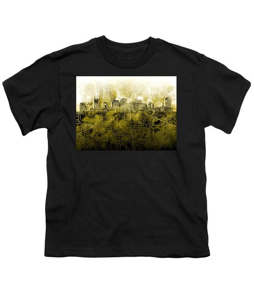 Nashville Skyline Watercolor 4 Youth T-Shirt