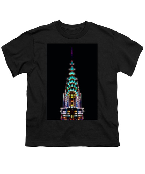 Neon Spires Youth T-Shirt by Az Jackson
