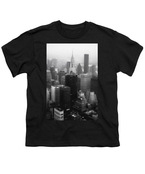 New York City - Fog And The Chrysler Building Youth T-Shirt by Vivienne Gucwa
