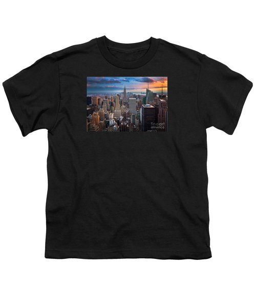 New York New York Youth T-Shirt by Inge Johnsson