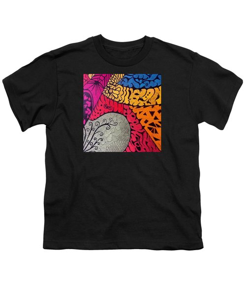 Nice Colors In A Doodling Designs I Youth T-Shirt