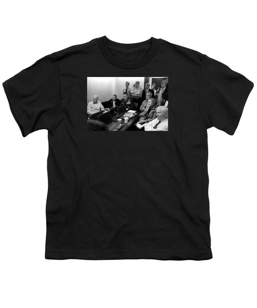 Obama In White House Situation Room Youth T-Shirt by War Is Hell Store