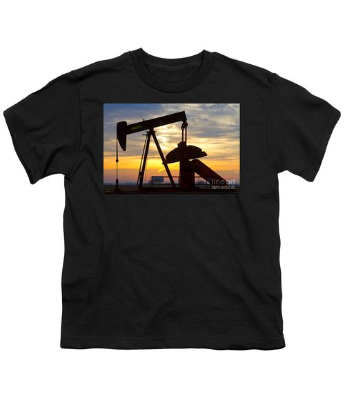 Oil Pump Sunrise Youth T-Shirt