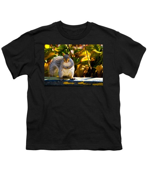 One Gray Squirrel Youth T-Shirt
