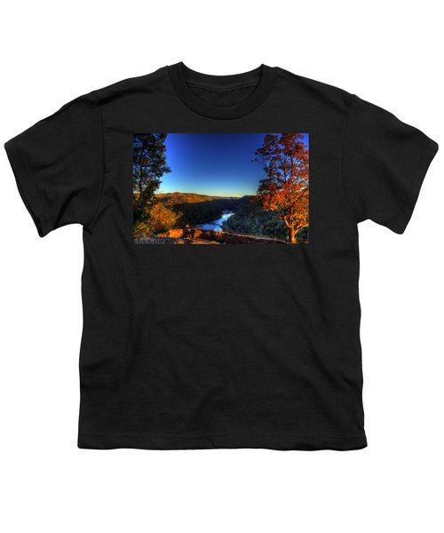 Youth T-Shirt featuring the photograph Overlook In The Fall by Jonny D