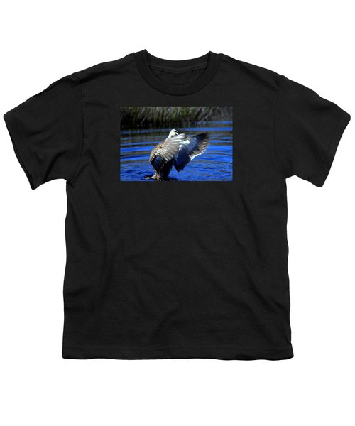 Youth T-Shirt featuring the photograph Pacific Black Duck by Miroslava Jurcik