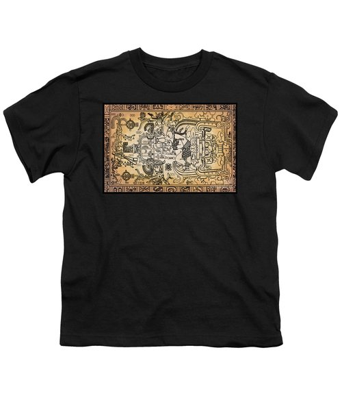 Youth T-Shirt featuring the photograph Pakal Sarcophagus Lid 2 by Gary Keesler