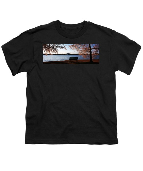 Park Bench With A Memorial Youth T-Shirt by Panoramic Images