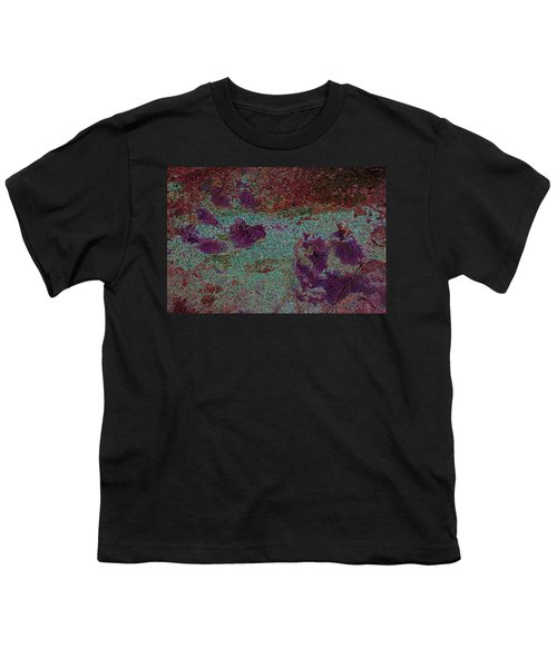 Paw Prints Cracked Purple Youth T-Shirt