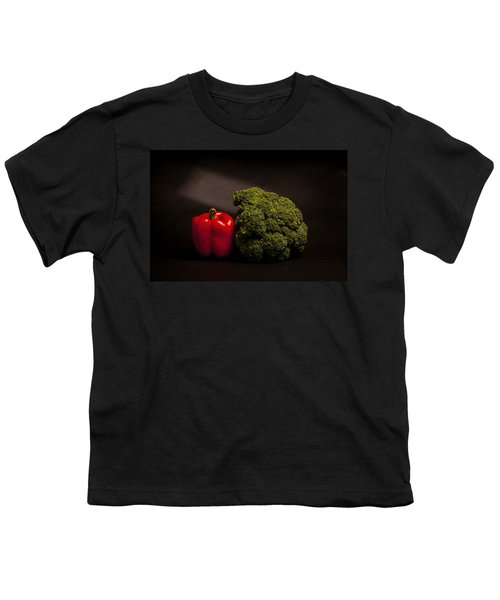 Pepper Nd Brocoli Youth T-Shirt by Peter Tellone