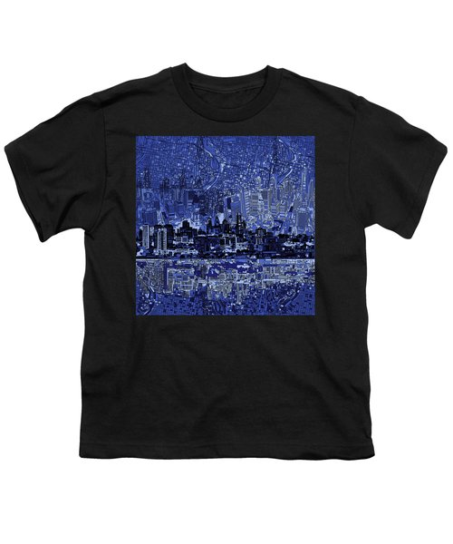 Philadelphia Skyline Abstract 2 Youth T-Shirt