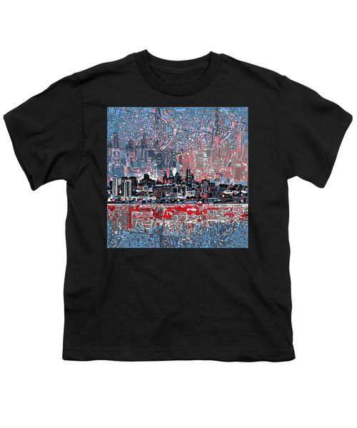 Philadelphia Skyline Abstract Youth T-Shirt