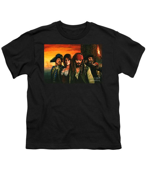Pirates Of The Caribbean  Youth T-Shirt by Paul Meijering