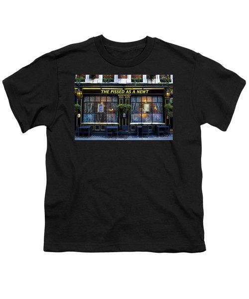 Pissed As A Newt Pub  Youth T-Shirt by David Pyatt