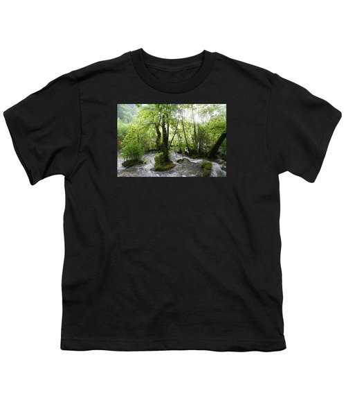 Youth T-Shirt featuring the photograph Plitvice Lakes by Travel Pics
