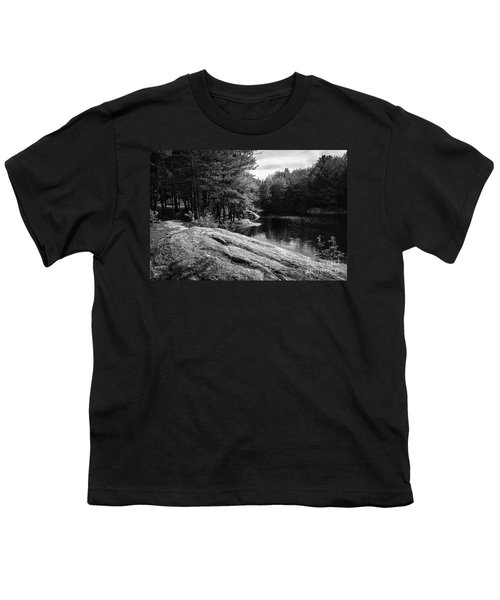 Youth T-Shirt featuring the photograph Pondside by Mark Myhaver