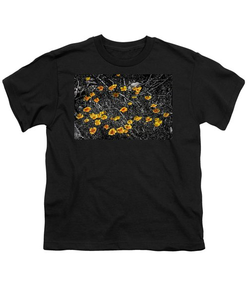 Youth T-Shirt featuring the photograph Poppyflies by Mark Myhaver