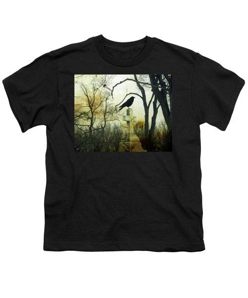 Raven On Cross Youth T-Shirt