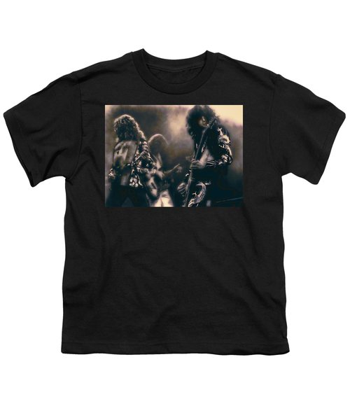Raw Energy Of Led Zeppelin Youth T-Shirt by Daniel Hagerman