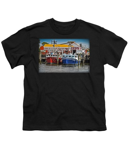 Youth T-Shirt featuring the photograph Reds Lobster Pot by Gary Keesler