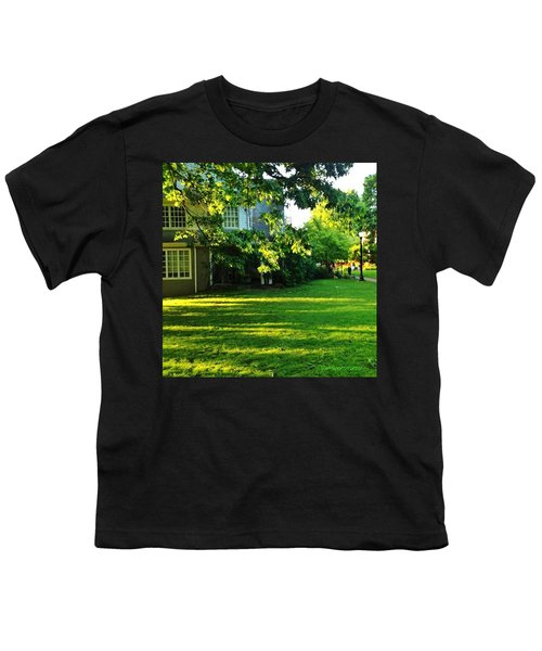 Reed College Campus Evening Light Youth T-Shirt