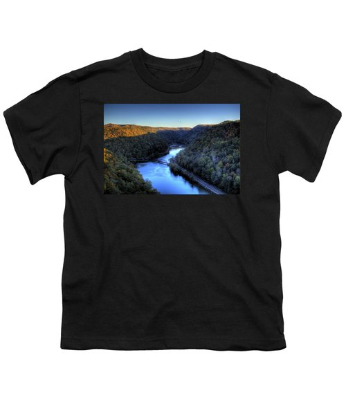 Youth T-Shirt featuring the photograph River Cut Through The Valley by Jonny D