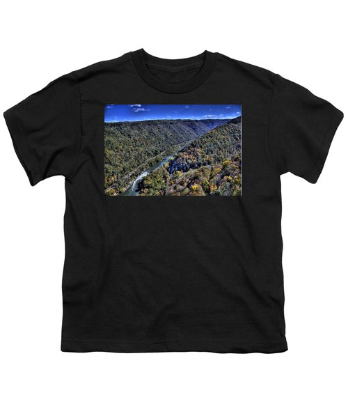 Youth T-Shirt featuring the photograph River Through The Hills by Jonny D