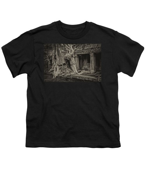 Roots In Ruins 7, Ta Prohm, 2014 Youth T-Shirt by Hitendra SINKAR