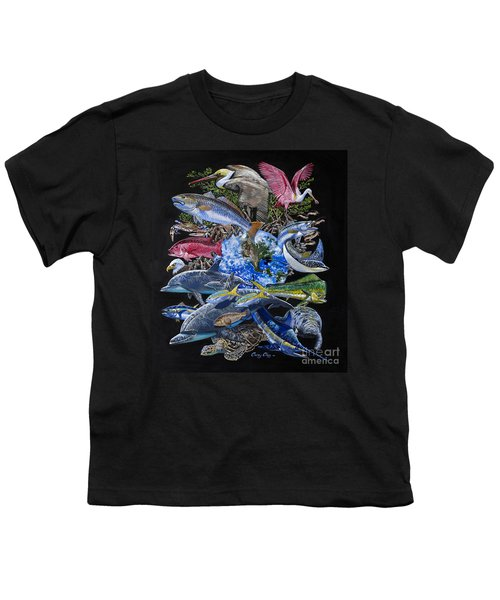 Save Our Seas In008 Youth T-Shirt by Carey Chen