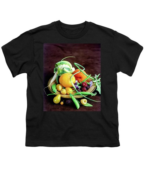 Seasonal Fruit And Vegetables Youth T-Shirt by Romulo Yanes