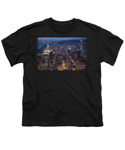 Seattle Urban Details Youth T-Shirt by Mike Reid
