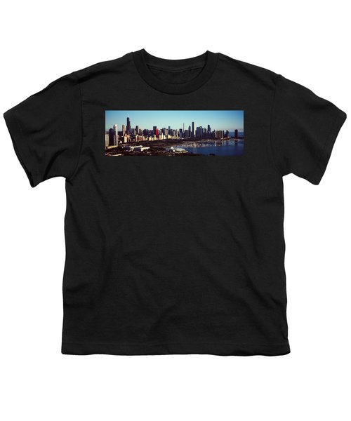 Skyscrapers At The Waterfront, Hancock Youth T-Shirt by Panoramic Images