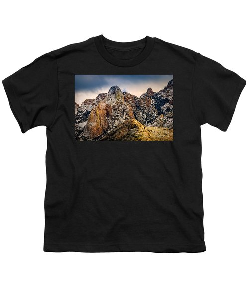 Youth T-Shirt featuring the photograph Snow On Peaks 45 by Mark Myhaver