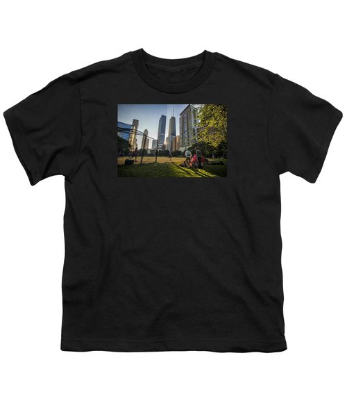 Softball By Skyscrapers Youth T-Shirt