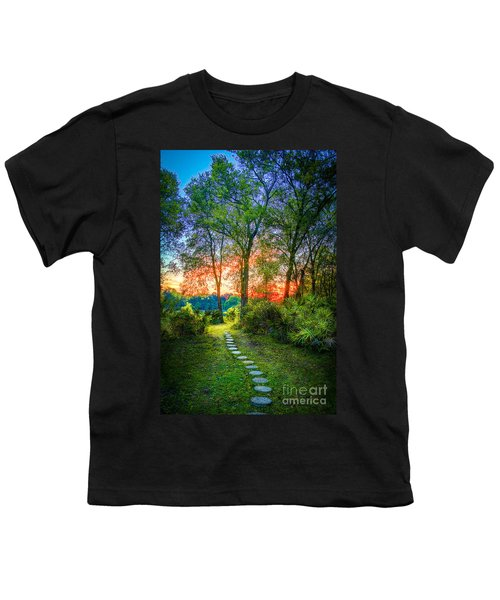 Stepping Stones To The Light Youth T-Shirt by Marvin Spates