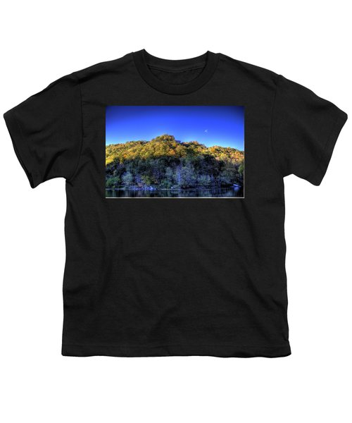 Youth T-Shirt featuring the photograph Sun On Autumn Trees by Jonny D